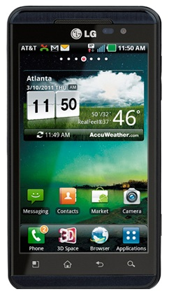 4 g Android phone LG Thrill of 3D With the screen 4.3 Inches and Android Froyo
