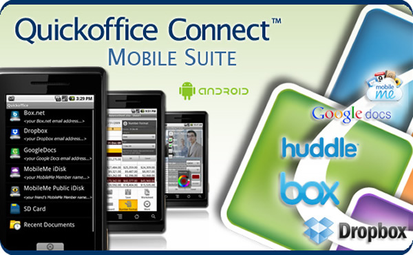 Quickoffice Pro Office applications to Android with Cloud Storage & the latest Editing