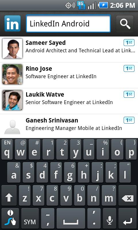 The Final version of LinkedIn application for Android Is Available