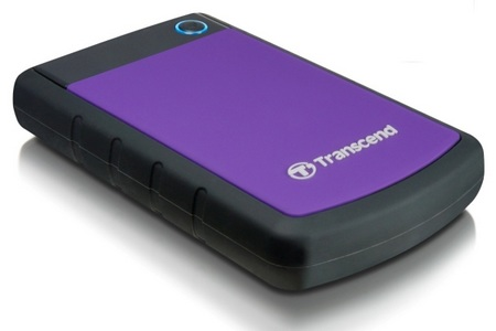 Transcend StoreJet 25H3P Latest 1 TB external harddrive with USB 3.0