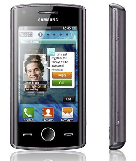 The Samsung Wave Bada with Specifications 578 Screen 3.2 inch, HSDPA & NFC enabled