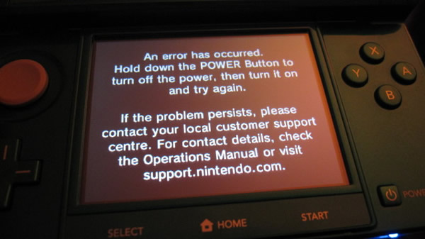 Nintendos response related to the Black Screen of Death Error & health issues