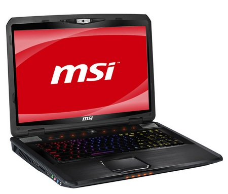 MSI GX780 Laptop Gamer 17 Inci Core i7 Sandy Bridge with SteelSeries LED backlight Keyboard