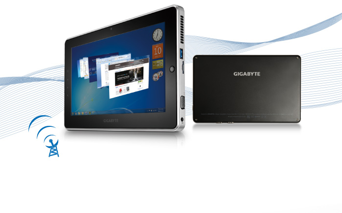 Gigabyte S1080 Tablet Windows 7 10 Inches with Atom processor Dual Core