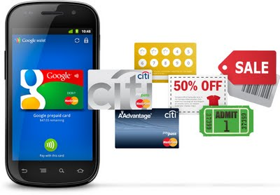 Google Wallet in a Mobile Phone