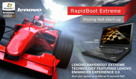 Laptop Lenovo Thinkpad T420s With RapidBoot Extreme Booting