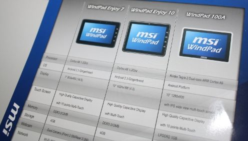 MSI Windpad Enjoy 7 Tablet Latest Android Gingerbread 7 inch
