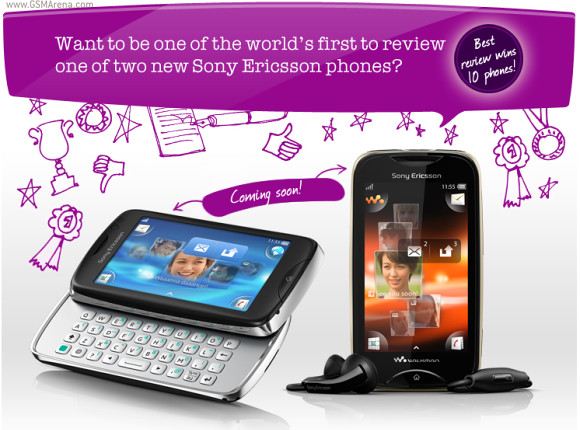 Sony Ericsson txt pro with QWERTY and Walkman Phones Mix